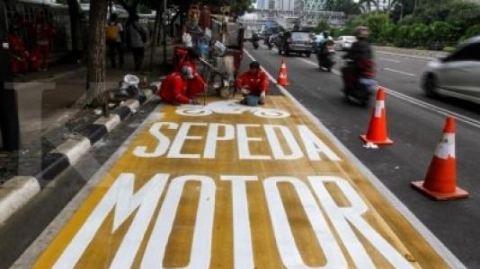 Dishub sosialisasikan sepeda motor gunakan lajur kiri di Thamrin